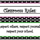 I created these rule signs for my classroom. They are polka dot themed and dont take up a lot of space! Enjoy! :)...