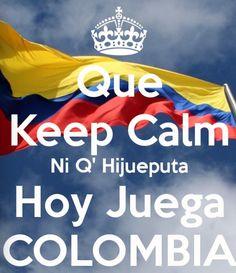Keep calm? I can't keep calm, I'm Colombian! #brasil2014