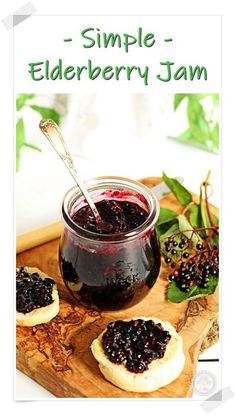 Put those foraged elderberries to good use in this deliciously Simple Elderberry Jam! Just 3 ingredients and no pectin needed! #elderberryjam #elderberryjamrecipe #elderberryjamrecipehowtomake #elderberryjamukrecipe #elderberryjamnopectin Uk Recipes, Vegan Recipes Easy, Dinner Recipes, Dessert Recipes, Canning Recipes, Kitchen Recipes, Brunch Recipes, Summer Recipes, Fall Recipes