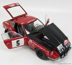 KYOSHO 08215B Scale 1/18  NISSAN DATSUN 240Z SPORT N 5 RALLY MONTECARLO 1972 RED BLACK