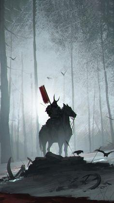 Dark Fantasy Art, Fantasy Forest, Fantasy World, Pop Art Wallpaper, Laptop Wallpaper, Bushido, Samurai Wallpaper, Samurai Anime, Samurai Artwork