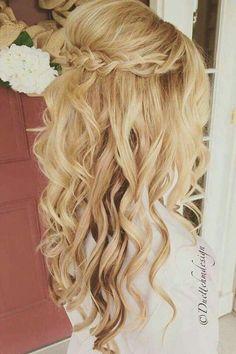 half up half down bridal    hair