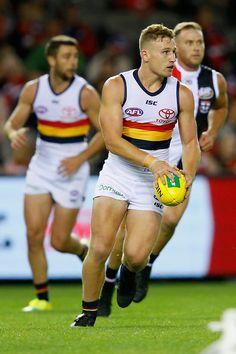 AFL 2018 Round 03 - St Kilda v Adelaide - AFL.com.au Hot Rugby Players, Australian Football, St Kilda, Men In Uniform, Athletic Men, Sport Man, Dream Team, Sexy Men, Crows