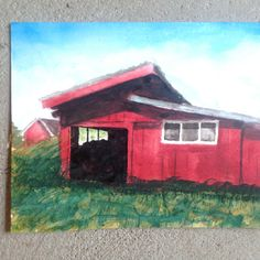 bengts hus Cabin, House Styles, Painting, Home Decor, Art, Watercolor Painting, Art Background, Decoration Home, Room Decor