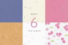 Ad: WASHI Japanese Papers 2 by Craig Rozynski on What's Washi? Six handpicked paper textures sourced in Japan. Images are x 8000 pixels, with both the original capture and a Japanese Stamp, Japanese Paper, Texture Images, Paper Texture, Washi, Cherry Blossom, Color Palettes, Creative, Designers