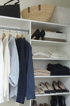 'How do closets get so overcrowded? If you're sick of feeling like your clothes own you, here are ten ways to pare down—and achieve inner serenity' - Gardenista.com