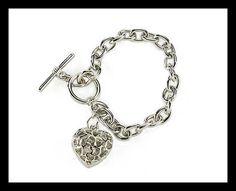 Diamante Bracelet Sku: 759910 Bracelet with diamante studded heart. Height Length of bracelet with t bar fastening. Baby Memories, Beauty Make Up, Timeless Design, Fashion Jewelry, Jewels, Clothes For Women, Bracelets, Womens Fashion, Silver