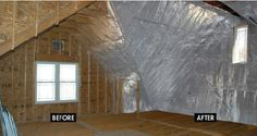 Radiant barrier is an optimal attic insulation option. Radiant barriers are radiant heat reflectors that helps reduce the amount of heat that is transferred from the roof to the attic. By reflecting the heat from the roof the attic remains cooler which limits the heat being redistributed to the rest of your home.