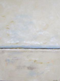 Large Original Abstract Beach Seascape Painting - Dillon Beach 2 36 x 48. $1,150.00, via Etsy.