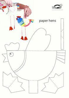 Tavuk Kalıbı - Story Tutorial and Ideas Easter Activities, Craft Activities, Easter Crafts For Kids, Diy For Kids, Diy And Crafts, Paper Crafts, Chicken Crafts, Preschool Art, Animal Crafts