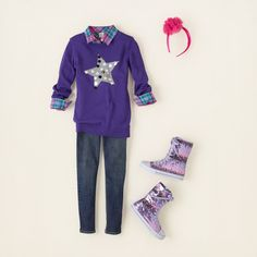girl - outfits - sweater stars - she shines   Children's Clothing   Kids Clothes   The Children's Place