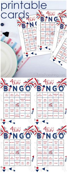 of July Bingo Adds Fun to Patriotic Celebrations What is your family's of July tradition? Have fun while waiting for fireworks with this Printable of July Bingo game. 4th Of July Celebration, 4th Of July Party, July 4th, 4th Of July Games, 4th Of July Ideas, Fourth Of July Crafts For Kids, Wonderful Day, July Holidays, 4th Of July Desserts