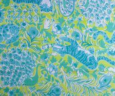 Vintage Key West Hand Print fabric.