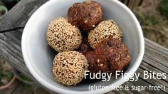 Fudgy fig bites (gluten-free & sugar-free!) -- if you close your eyes you might just think you're eating a brownie but they're so much healthier!