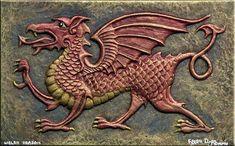 Welsh Dragon - was a Celtic sign for strength.by Kevin Dyer(perfect for metal tooling) Celtic Signs, Celtic Art, Red Dragon, Dragon Art, Fantasy Creatures, Mythical Creatures, Here Be Dragons, Welsh Dragon, Year Of The Dragon