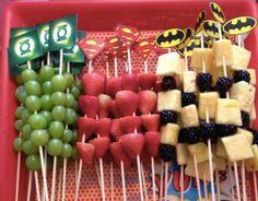 Ideias de comidinhas festa #supertheo4anos