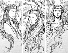 Elf lords of middle-earth by evankart on deviantART