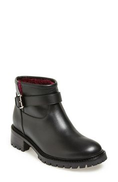 Fendi 'Military' Genuine Shearling Lined Ankle Boot (Women) available at #Nordstrom