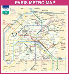 Official Paris Metro map.   You never really know where you are in relation to the above-world.