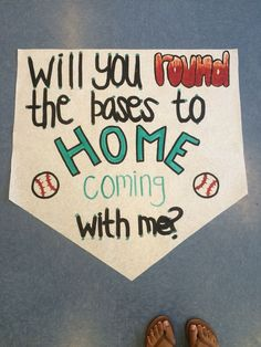 baseball homecoming proposal