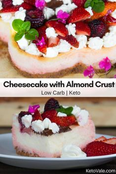 Low Carb Cheesecake with Almond Crust for Keto Diet