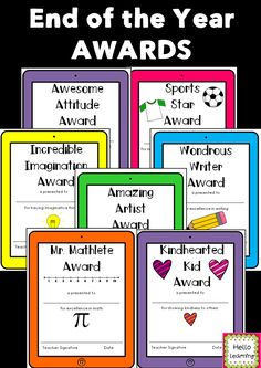 end of the school year awards set of 42 different awards to highlight the uniqueness - 6th Grade Graduation Certificate Template