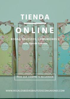 Tienda Online en España de regalos y detalles para Bodas, fiestas, celebraciones... Siguenos en Facebook: https://www.facebook.com/bodasbautizoscomunionesregalos/