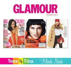 Glamour!  Featuring Tees By Tina TWICE!  Our LS Mock Neck, yet again.