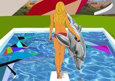 Leonardo Hidalgo - Girl With Dolphin