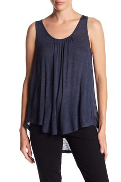 Scoop Neck Tie Back Tank