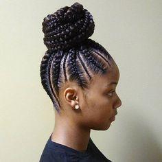 Cornrows ponytail