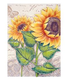 Take a look at this Sunflower Field Wall Art by New View on #zulily today!