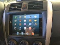 IPad Mini installed in a car