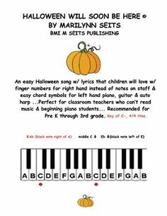 an easy halloween song w lyrics that children will love uses finger numbers for