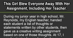 The Best Assignment Ever. This Girl Just Nailed It.