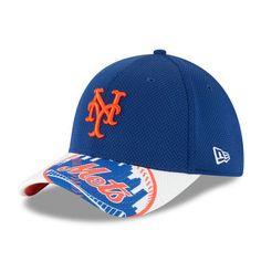 Men s New York Mets New Era Royal White Logo Duel Diamond Era 39THIRTY Flex  Hat 0dea55cf85a
