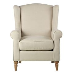 """Amazon.com - Collins Wingback Chair, 41""""HX32""""WX35""""D, BEIGE HERRINGBO - Wing Back Chair"""