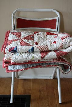 Red & White Pinwheel Quilt