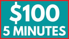 Make $100 Every 5 Minutes!! *Proof* (Make Money Online Trick) Money Now, Earn Money From Home, Make Money Blogging, Money Tips, Make Money Online, Money Hacks, Quick Money, Way To Make Money, Extra Money