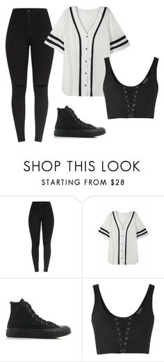 """Untitled #48"" by iamalyceparis on Polyvore featuring Converse and Topshop"