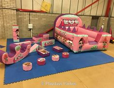 Oh my!!! This looks so awesome!!!! A proper LOL Surprise play area!!! Totally Love it! Who wouldn't wana be here! from playdaysparties.co.uk #lolsurprise #lolsurprisedolls #unboxlol #collectlol #lolpearlsurprise #purplepearlsurprise #lolsurpriseparty #lolparty #bouncycastle #partideas #partiesforgirls #birthdayparty #loldolls
