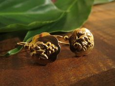 Fascinating French Antique 18K Gold Grape earrings by DoubleRainbowAntique