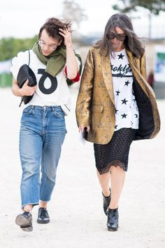Our favorite street style looks from Thursday.