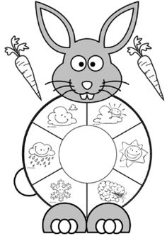 Easter spring bunny temperature and weather spinner activity page Science Activities For Kids, Preschool Science, Toddler Activities, Preschool Activities, Cool Paper Crafts, Paper Crafts Origami, Art For Kids, Crafts For Kids, Weather Crafts