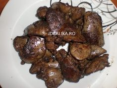 Ficatei de pui la tigaie cu usturoi Romanian Food, Foie Gras, Chicken Wings, Carne, Food And Drink, Meat, Cooking, Youtube, Knits