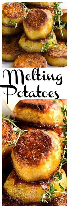 Melting Potatoes - crunchy on the outside and creamy on the inside with the most amazing flavor. – More at http://www.GlobeTransformer.org
