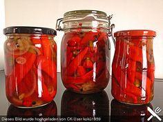 Eingelegte Peperoni