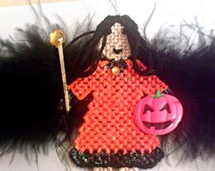 Serena The Gothic Halloween Fairy by ghostgap on Etsy Halloween Fairy, Gothic Halloween, Halloween Trees, Halloween Ornaments, Christmas Ornaments, Gothic Fairy, Black Feathers, Embroidery Thread, Crochet Hats
