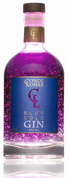 'll Gin Conde Lumar Blue Gold Alcohol Bottles, Liquor Bottles, Vodka Bottle, Premium Gin, Gins Of The World, London Gin, Gin Brands, Craft Gin, Gin Lovers