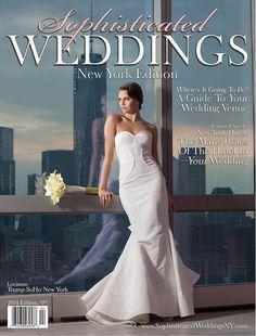 Ginger Zee from Good Morning America in the KAREN WILLIS HOLMES 'Elvina' beaded wedding dress #weddingdress #newyorkwedding #karenwillisholmes
